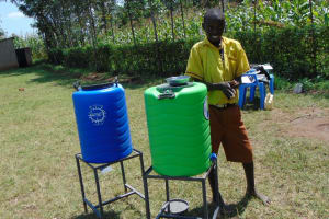 The Water Project: St. Margret Wadin'go Primary School -  Student Demonstrates Handwashing