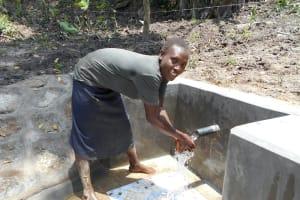 The Water Project: Bung'onye Community, Shilangu Spring -  Enjoying The Spring Water