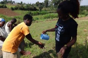 The Water Project: Bungaya Community, Charles Khainga Spring -  Handwashing Practice