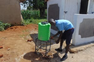 The Water Project: Enyapora Primary School -  Handwashing Outside The Latrines