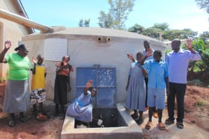The Water Project: Womulalu Special School -  Teachers And Students Celebrate The New Tank