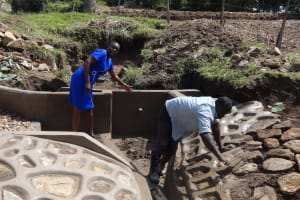 The Water Project: Bungaya Community, Charles Khainga Spring -  Field Officer Mary Afandi Talking About The Spring