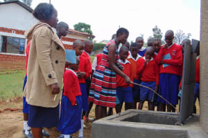 The Water Project: Goibei Primary School -  Jemmimah Points Out The Tap System