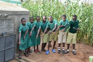 The Water Project: Elufafwa Community School -  Clean Water Flowing