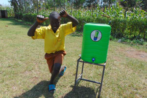 The Water Project: St. Margret Wadin'go Primary School -  Posing With A Handwashing Station
