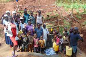 The Water Project: Shamakhokho Community, Imbai Spring -  Community Members At The Spring