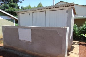 The Water Project: Womulalu Special School -  Completed Latrines