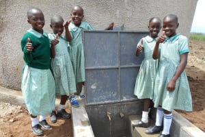The Water Project: Mukangu Primary School -  Thumbs Up For Clean Water