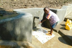 The Water Project: Bung'onye Community, Shilangu Spring -  All Ages Enjoy Clean Water