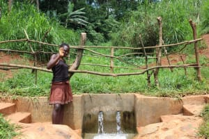 The Water Project: Mushina Community, Shikuku Spring -  Posing With The Spring
