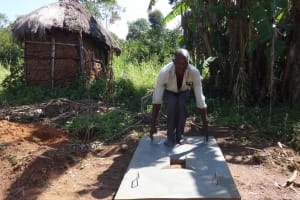 The Water Project: Bungaya Community, Charles Khainga Spring -  New Sanitation Platform Owner