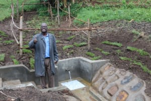The Water Project: Emmachembe Community, Magina Spring -  Happy Day At The Completed Spring