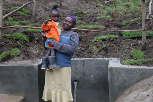 The Water Project: Emmachembe Community, Magina Spring -  All Ages Enjoy Clean Water