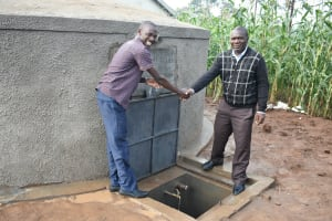 The Water Project: Elufafwa Community School -  Handing Over The Rain Tank