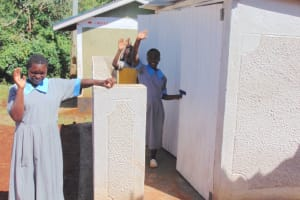 The Water Project: Womulalu Special School -  Girls At Their New Latrines