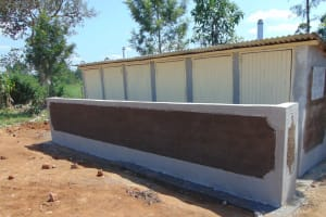 The Water Project: St. Margret Wadin'go Primary School -  Completed Latrines