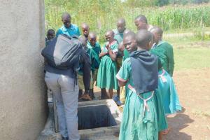 The Water Project: Shinyikha Primary School -  Training On Rain Tank Management