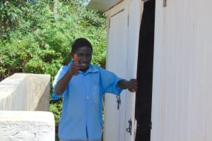 The Water Project: Womulalu Special School -  Thumbs Up For New Boys Latrines