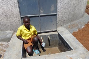The Water Project: St. Margret Wadin'go Primary School -  Getting A Fresh Drink