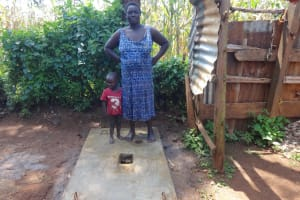 The Water Project: Mushina Community, Shikuku Spring -  Proud New Sanitation Platform Owner
