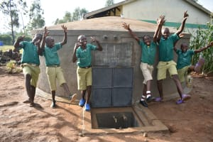 The Water Project: Elufafwa Community School -  Happy Faces At The Water Tank