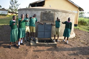 The Water Project: Shinyikha Primary School -  Thumbs Up For The New Rain Tank