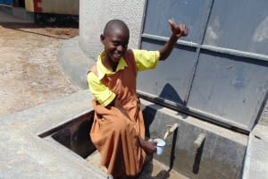 The Water Project: St. Margret Wadin'go Primary School -  Getting A Drink