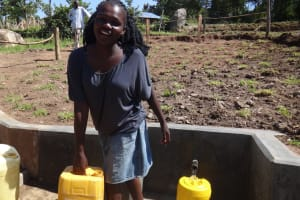 The Water Project: Bungaya Community, Charles Khainga Spring -  Happy Fetching Water