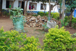 The Water Project: Mutiva Primary School -  Administration Building Behind Trees