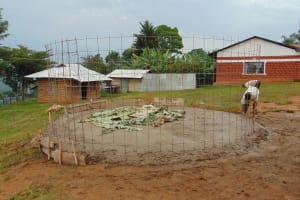 The Water Project: Goibei Primary School -  Rain Tank Wire Form