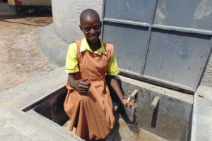 The Water Project: St. Margret Wadin'go Primary School -  Enjoying The Rainwater
