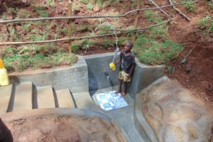 The Water Project: Shamakhokho Community, Imbai Spring -  Having Fun With Spring Water