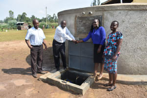 The Water Project: Shinyikha Primary School -  Official Handing Over Of The Tank