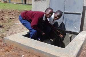 The Water Project: Ematiha Secondary School -  Students At The Rain Tank