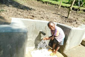 The Water Project: Bung'onye Community, Shilangu Spring -  All Smiles