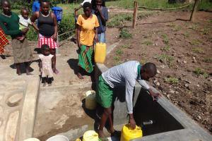 The Water Project: Bungaya Community, Charles Khainga Spring -  Fetching Water