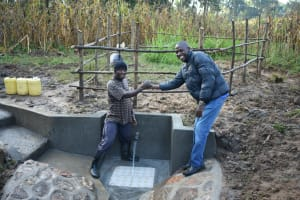 The Water Project: Sichinji Community, Kubai Spring -  Handing Over Session At Kubai Spring