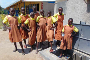 The Water Project: St. Margret Wadin'go Primary School -  Girls At The Rain Tank