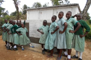 The Water Project: Mukangu Primary School -  Girls With Their New Latrines