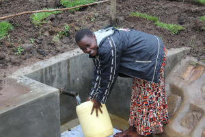 The Water Project: Emmachembe Community, Magina Spring -  Happy Fetching Water