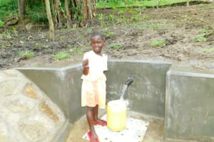 The Water Project: Bung'onye Community, Shilangu Spring -  Thumbs Up For Clean Water