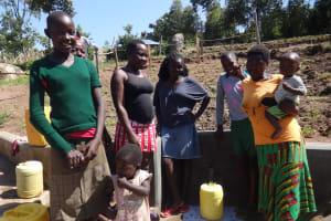 The Water Project: Bungaya Community, Charles Khainga Spring -  Happy Community Members