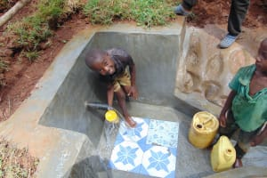 The Water Project: Shamakhokho Community, Imbai Spring -  Smiles At The Spring