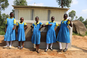 The Water Project: Musasa Primary School -  Girls With New Latrines