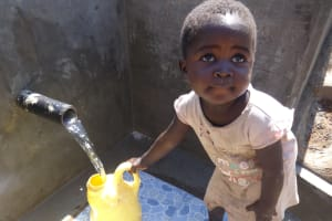The Water Project: Bungaya Community, Charles Khainga Spring -  Clean Water Is Good For All Ages