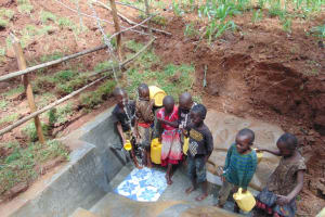 The Water Project: Shamakhokho Community, Imbai Spring -  Kids Having Fun At The Spring