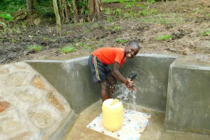 The Water Project: Bung'onye Community, Shilangu Spring -  Say Cheese