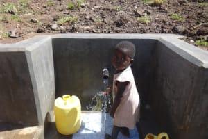 The Water Project: Bungaya Community, Charles Khainga Spring -  Feeling The Spring Water