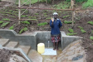 The Water Project: Emmachembe Community, Magina Spring -  Smiles At The Spring