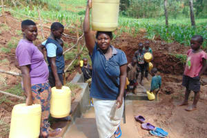 The Water Project: Shamakhokho Community, Imbai Spring -  Ready To Walk Home With Clean Water
